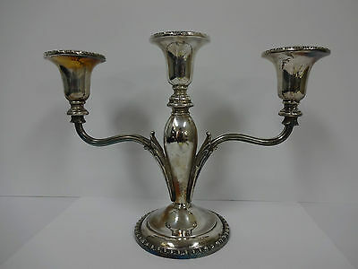 20% OFF! Silverplate 3 candle candelabra - CORONET