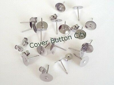 Surgical Stainless Steel Earring Post and Back - 10.4mm Long - CHOOSE Size/Qty