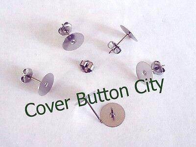 Nickel Free Titanium Earring Posts and Backs - CHOOSE Size and Quantity