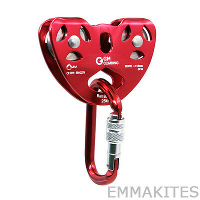 Professional Zipline Set Up Gear Kit 25kN Cable Trolley Pulley and Carabiner