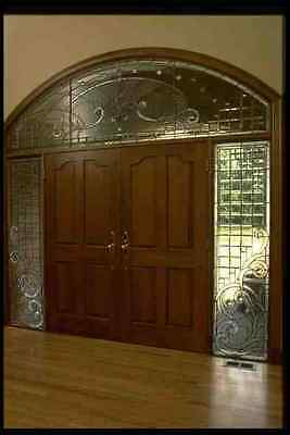 031000 Double Door With Beveled Glass Frame A4 Photo Print