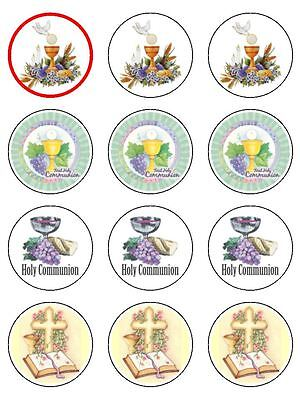 First Holy Communion Edible Icing CupCake Toppers girls & boys mixed design