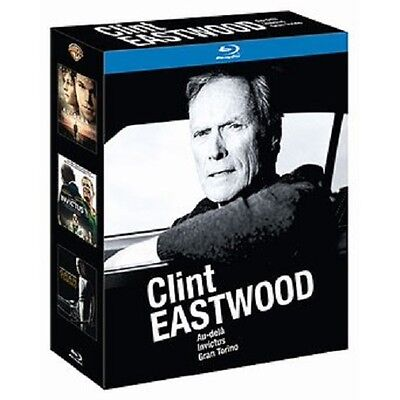 25973//Coffret 3 Blu Ray Clint Eastwood Neuf Sous Blister