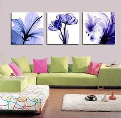 New High Quality Counted Cross Kits Triptych Moonlight Blue Flowers Hot Sell