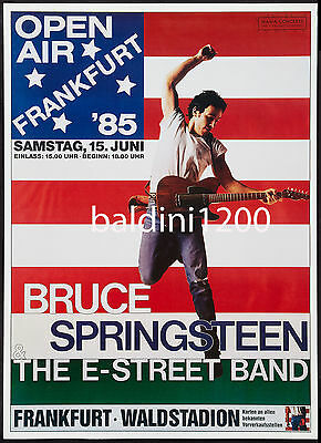 Bruce Springsteen - High Quality Early Vintage 1985 Concert Poster