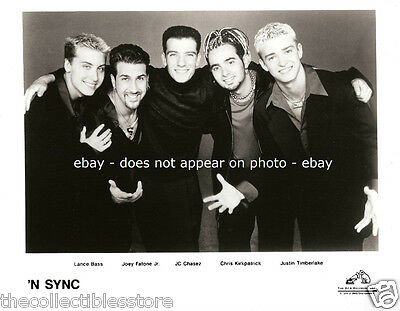 N Sync Lance Bass Joey Fatone Jr Jc Chasez Chris Justin Timberlake 8 X 10 Photo