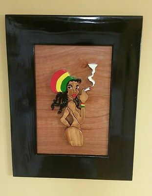 Intarsia Rasta Girls Wall Art