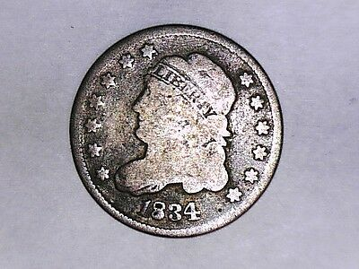 1834 Capped Bust Half Dime Coin (Nice)