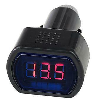 CAR VAN BOAT 12v 24v BATTERY VOLT VOLTAGE METER MONITOR GAUGE CIGAR LIGHTER PLUG