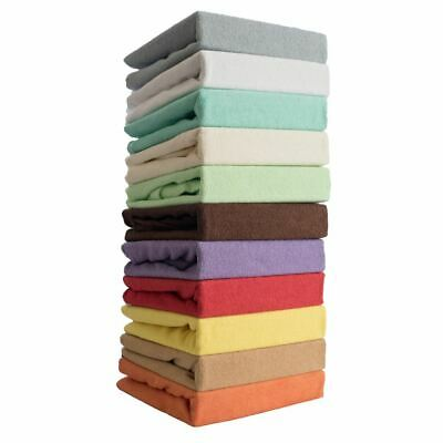 Terry Towelling Fitted Sheet Fits Baby Crib / Cot / Cotbed /Junior Bed Mattress