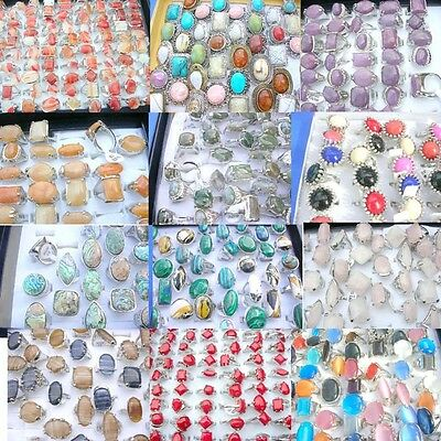 100 pcs wholesale rings gemstone jewelry cheap rings *Ship From US/Canada*