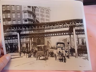 1902 Manhattan Elevated NYC new York City Subway Photo 8 x 10 Modern Reprint
