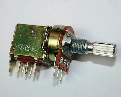 Potentiometer Push Pull Switch Pot Guitar 500K Log Split Shaft Logarithmic V164L