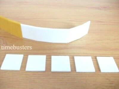 50 Double Sided White Foam Pads/Squares Sticky Fixers 3D Effect 25mm Square