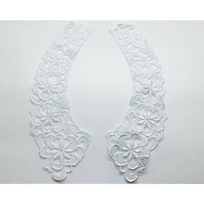 Cotton Lace Collars in White/Ivory Vintage Guipure Style Necklace Women 1 Pair