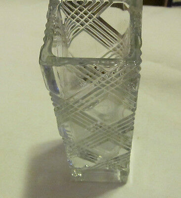 "AVON Fostoria Crystal 6 1/8"" T x 1 3/4"" W - Bud Vase Dated ""1980"""