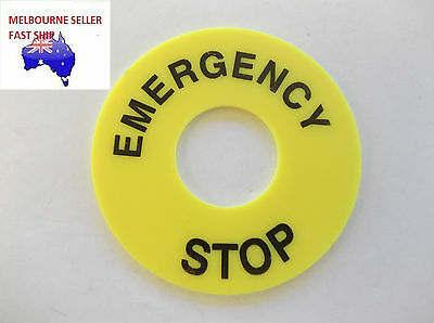 5PCS EMERGENCY STOP LABEL FOR 22mm PUSHBUTTON