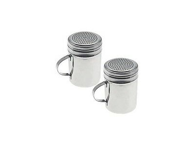 Commercial Stainless Steel Salt And Pepper, Spice And Sugar Shaker, Dredge Set 2