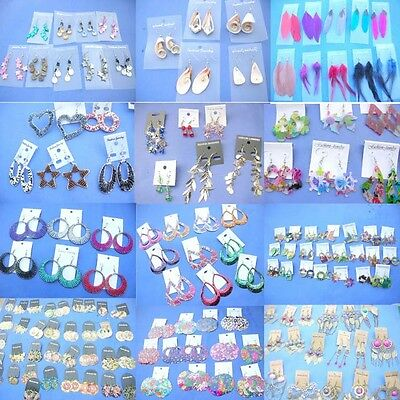 Wholesale earrings 50 prs bulk lot costume jewelry *Ship From US/Canada*