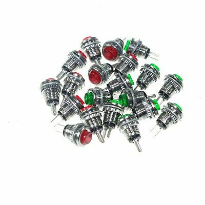 20PCS Subminiature Button Switch Micro Push Button Switch DS - 101 Red/Green