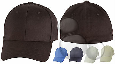 Flexi Fitted Cap 5 Colours Baseball Hat  Adults Mens Ladies
