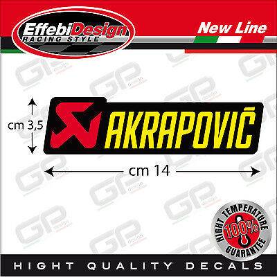 Adesivo/Sticker AKRAPOVIC ALTE TEMPERATURE 200 gr EXHAUST HONDA SUZUKI H.QUALITY