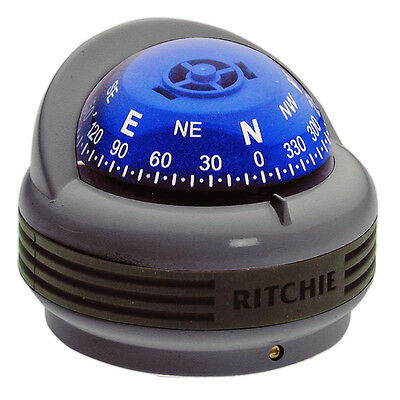 New Tr33G Marine Trek Compass Surface Mount For Boat & Rv- Grey - Ritchie Tr-33G