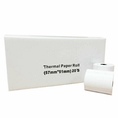 20/200 - 57x51mm Roll-X Thermal Till Rolls Chip & Pin PDQ UKB787