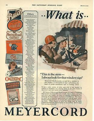 The Meyercord Co. - Decalcomania - 2 page advertisement - 1927