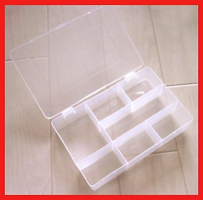 multipurpose plastic box case w partition for small items beading fishing tool