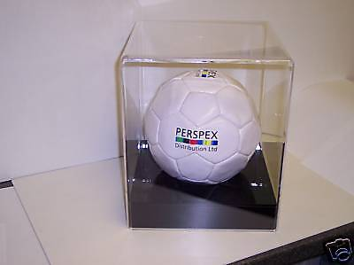 Football Display Case In Perspex Acrylic With Base........top Quality