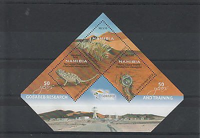 Namibia 2012 MNH Gobabeb Research & Training 50 Years 3v Sheet Chameleon Beetle