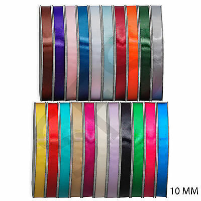 25 metres of Grosgrain Ribbon 10mm wide Various Colour FULL ROLL