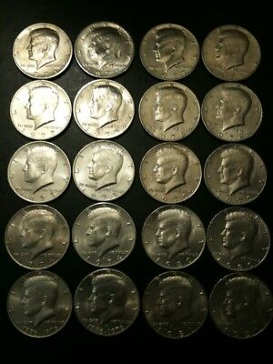 1971-1981 P D Kennedy 50 Cent US Half Dollar 10 yr Set Clad No Silver Mint 1976