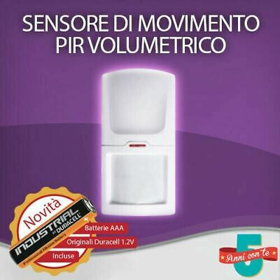 Sensore Di Movimento Pir Volumetrico Wireless Allarme