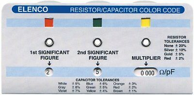 Elenco Cc-100 Cc100 Resistor Color Code Calculator + Usa Free Shipping