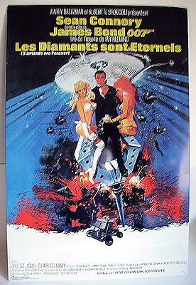 Plaque Tole Litho James Bond 007 - LES DIAMANTS SONT ETERNELS