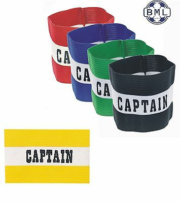 CAPTAIN ARMBAND - YELLOW / GREEN / RED / BLUE / BLACK  (SENIOR and JUNIOR SIZES)