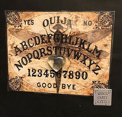 Ouija Sheet (Laminated Paper) Dragonfly Picture, Halloween party Game/decoration