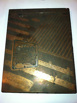 Vintage Atlas Chain Co Special Chains And Attachments Copper Printing Block
