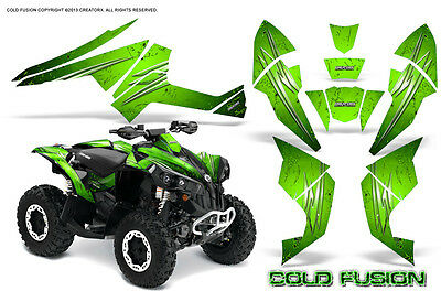 Can-Am Renegade Graphics Kit by CreatorX Decals Stickers COLD FUSIN GREEN