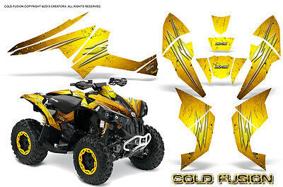 Can-Am Renegade Graphics Kit by CreatorX Decals Stickers Cold Fusion Yellow