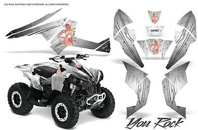 Can-Am Renegade Graphics Kit by CreatorX Decals Stickers TRIBALX BW