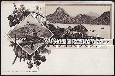 A O Traunsee - Litho - Gmunden