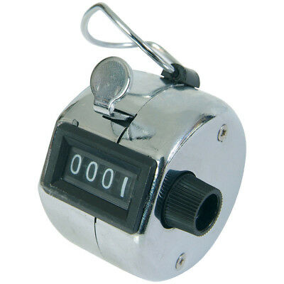 Viper Chrome Hand Held Tally Counter 4 Digit Number Small Palm Golf Club Clicker