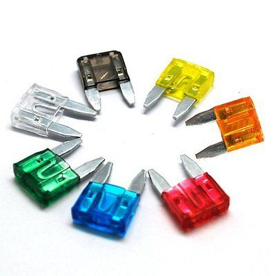 10 x Mini Blade Fuse Fuses Car Motorbike Choose From 5,7.5,10,15,20,25 / 30 Amp