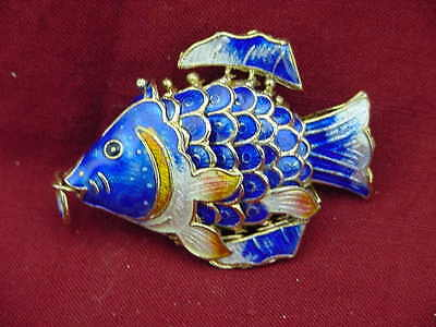 BUTW cloisonne  articulated fish enameled  4048A
