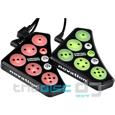Novation Dicer Serato Scratch/Traktor Scratch DJ Controllers, Loops, Cues (Pair)
