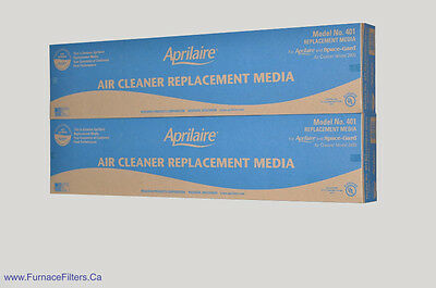 Aprilaire Part # 401 for 2400 High Efficiency Air Cleaner Package of 2.
