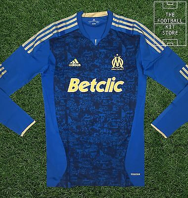 Olympique Marseille Away Shirt - Adidas Player Issue Techfit Jersey - X-Large